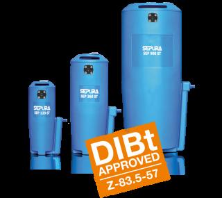 SEP 120/360/900/1250 ST Separadores de agua y aceite Depurador de condensados
